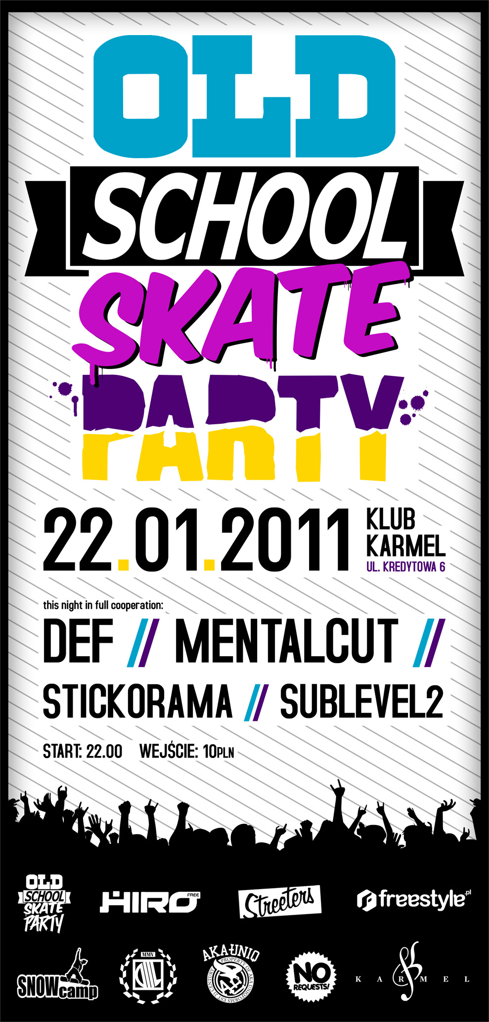 22.01 |Old School Skate Party | Mentalcut x Def x Stickorama x Sublevel2