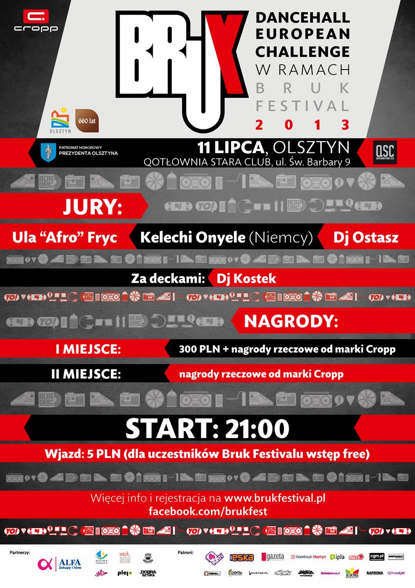 Dancehall European Challenge w ramach Bruk Festivalu 2013
