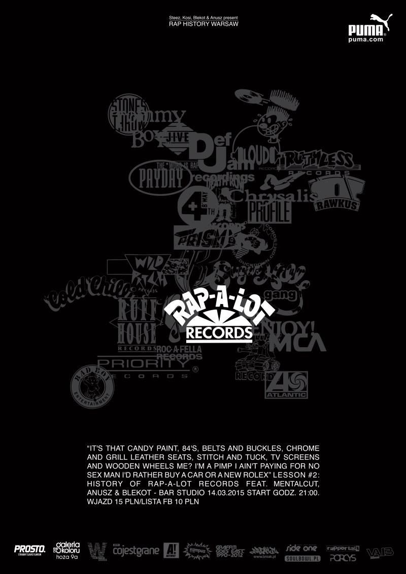 Rap History Warsaw Lesson 2: Rap-A-Lot Records