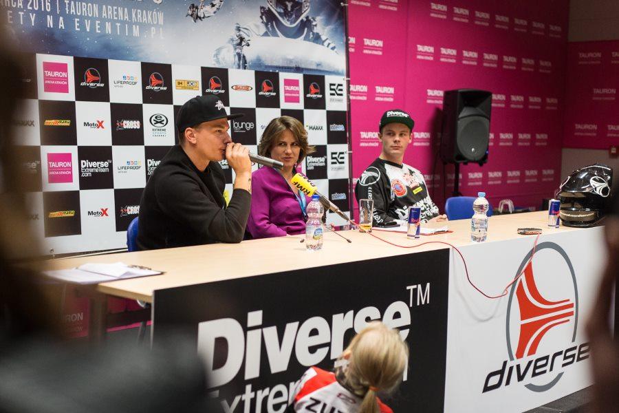 Konferencja prasowa zapowiadająca polską rundę Mistrzostw Świata we Freestyle Motocrossie Diverse NIGHT of the JUMPs