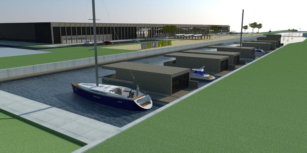 Wodny Park Handlowy na Białołęce - wizualizacja