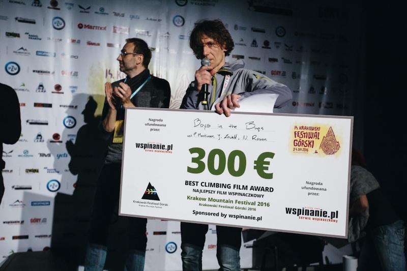 Nagroda wspinanie.pl za najlepszy film wspinaczkowy (fot. Adam Kokot KFG)