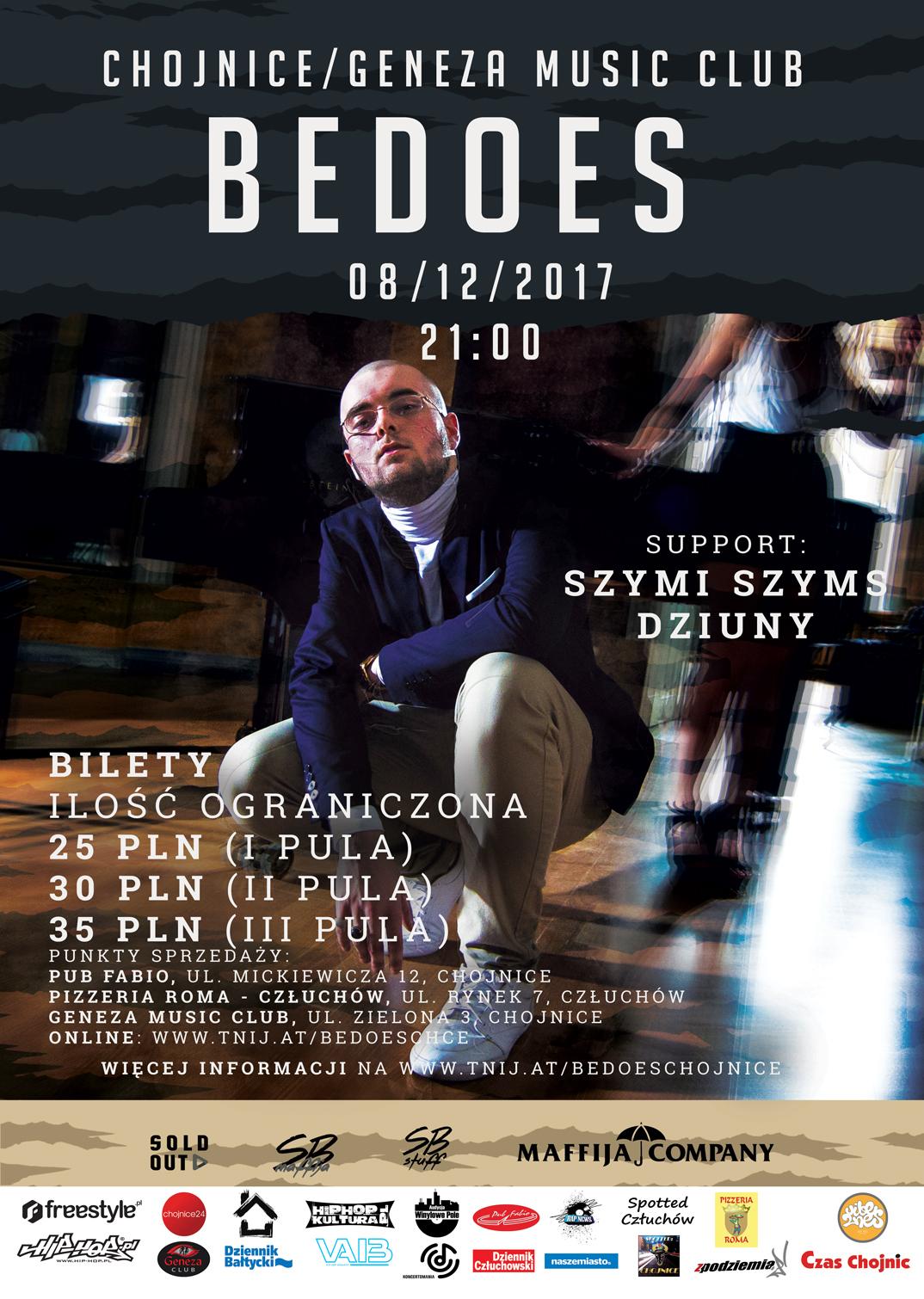 Grudniowy koncert Bedoesa w Chojnicach