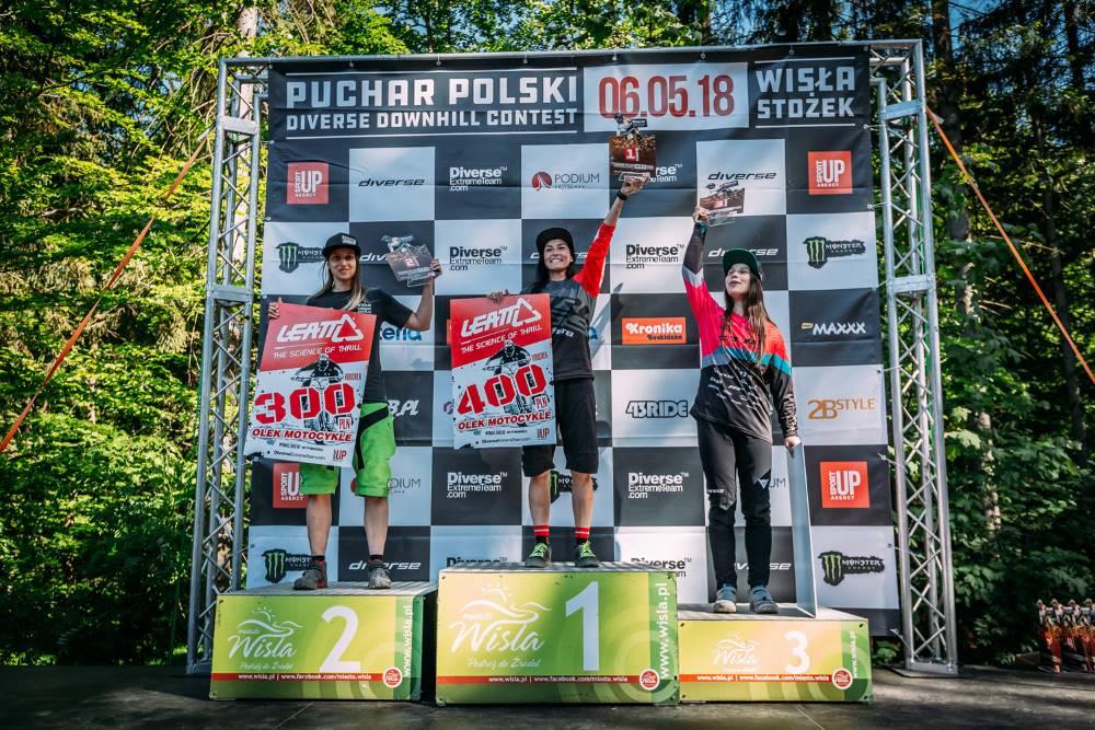 Diverse Downhill Contest Puchar Polski - Wisła 2018 - podium Kobiety