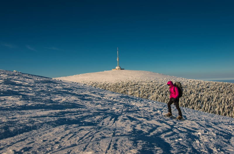 Praděd - rakiety śnieżne. fot. Petr Pavlíček