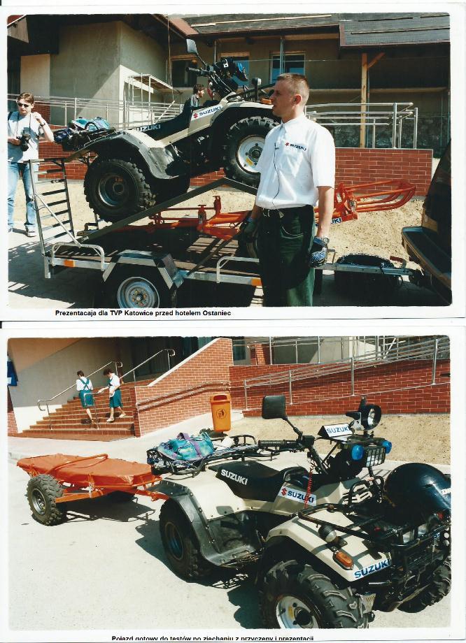 Pierwszy pokaz przyczepki dla GOPR rok 1997