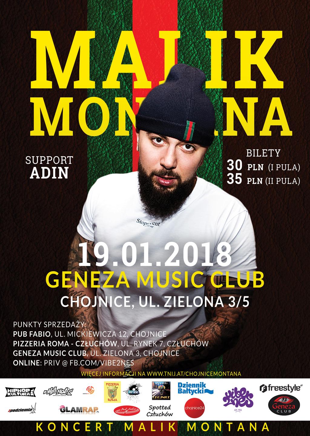Koncert Malika Montana w Chojnicach