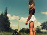 Dziewczyny z longboardami