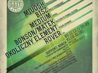 HipHopKoncert 10 edycja ! Miuosh x Bisz x Medium x Bonson/Matek x Okoliczny Element x Rover x Roach