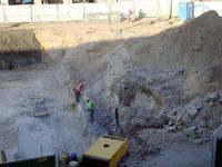Obsunięcie podczas budowy metra - Targowa