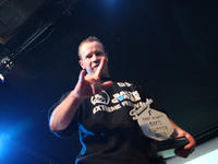 Wojtek Tandeck odbiera nagrodę za najlepszy Event BMX 2010 - Baltic Games