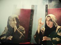 Rahim na planie klipu do utworu SERUM