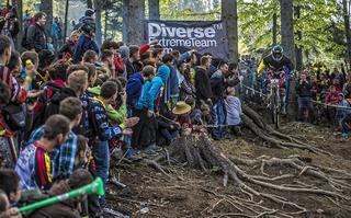 Helmet cam trasy Mistrzostw Europy w zjeździe na rowerach