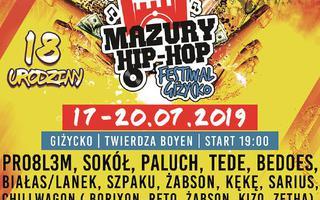 Plakat oraz line up 18-tej edycji Mazury Hip Hop Festiwal 2019!