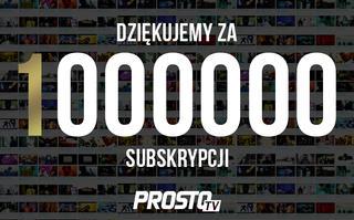 Milion subskrypcji ProstoTV